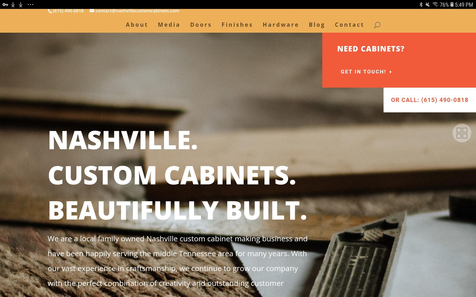 Nashville Custom Cabinets Website